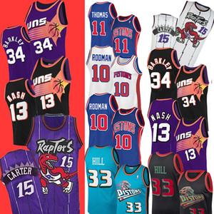 Carter 33 Grants NCAA 11 Isiah Hill Thomas10 Rodman Dennis 34 Charles 13 Steve Nash Barkley 15 Vince College Basketball Jersey