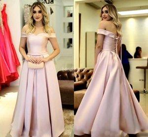 2019 soirée élégante robes Encolure Une ligne Pleats fête officielle de bal Robes Stylish Occasion spéciale Robe pas cher Chic Vestidos De Fiesta