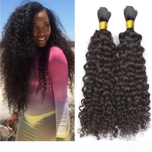 Afro Kinky Curly Hair Bulk For Braiding 8A Brazilian Human Hair 3 Pcs lot Hair Bulk For African American