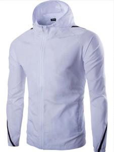 Männer Sport Hoodies Designer Einfache lange Hülsen-dünne Reißverschluss-Mann-Stadt-beiläufiger Mantel 2020 Frühling-Sommer-Kleidung