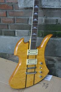 Новый заказ Rich Mockingbird Special Электрогитара Neck Thru тела желтый взрыв цвета китайский гитарного Factory Outlet