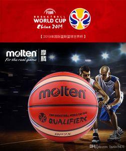 Erimiş FIBA Çin 2019 Basketbol Dünya Kupası Elemeleri basketbol boyutu 7 Ejderha desen PU Maç basketbol topu GP7X-Q7Z