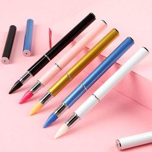 NAN002 Нержавеющая двухцветная двойная концовка ногтей точечные ручки воска головы ручки для маникюрных блеск порошок ногтей инструменты