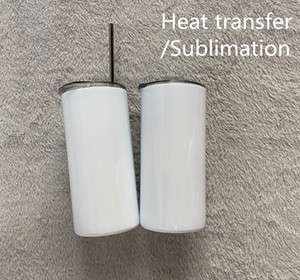 Sublimationswärmeübertragung 15 Unzen 450ml dünnes tumbler slim Zuhaltung mit Metall Stroh doppelwandige Edelstahl