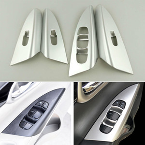 ABS Matt Interior Tampa Da Porta Braço Guarnição Para Nissan Sentra Sylphy 2012-2016