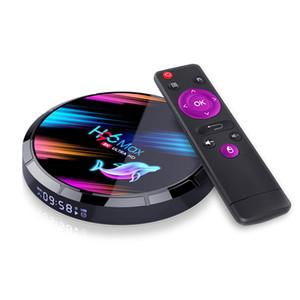 H96 MAX X3 Smart TV Box S905X3 2.4G / 5G Wifi BT4.0 mídia 4 + 32GB / 64GB / 128GB para Android 9.0