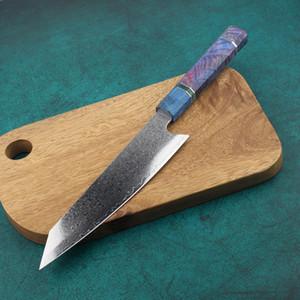 Cuchillo de Chef 67 capas japonés Damasco acero Damasco Chef cuchillo 8 pulgadas Damasco cuchillo de cocina madera solidificada HD