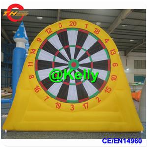 Tek yan dart topu çekim dev şişme dart tahtası şişme futbol ayak dart, satılık şişme futbol dart oyunu