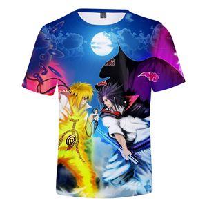 Hot Fashion Naruto 3D camiseta Casual Hip Hop Hombres Mujeres camiseta Anime japonés Naruto Casual fresco para hombre T camisa ropa