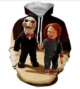 Nueva moda sudaderas con capucha Horror película personaje Chucky impresión 3D hombres mujeres deporte sudadera con capucha diseñador Pullover manga larga Streetwear