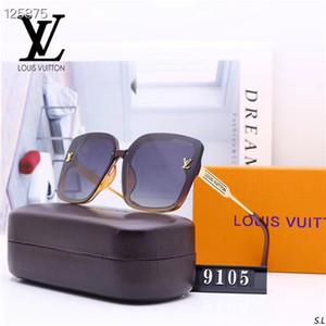 Art und Weise der neuen Männer und Sonnenbrille der Frauen polarisierte Sonnenbrille polaroid Buchstabemuster Sonnenbrille hd Objektiv mit Kasten