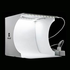 Mini Lightbox Pliant Photographie Photo Studio Softbox 2 Panneau Led Lumière Boîte à Lumière Photo Fond Kit Light Box Pour Dslr Caméra T190706