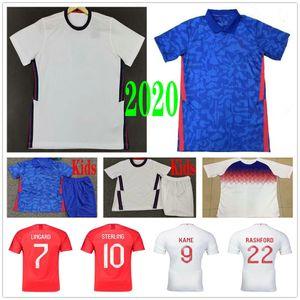 2020 2021 Inglaterra de Futebol STERLING Rashford KANE SANCHO Vardy Lingard Personalizado Copa do Mundo de 2018 Casa Fora Homem Mulher Kids Football Shirt