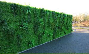 40 * 60 cm Plante artificielle mur pelouse Milan Eucalyptus herbe en plastique Faux pelouse plante verte mur Porte Décoration