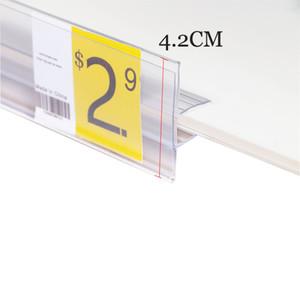 50cm 중간 상단 클립 데이터 스트립 유리 나무 클립 선반 라벨 홀더 스트립 로그인 홀더 가격 티켓 홀더 선반 화자 스트립