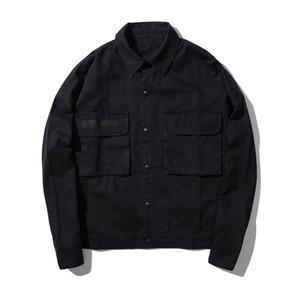 ICPANS Denim Jacket Negro Mens Chaquetas y Abrigos Cargo Hip Hop Jeans Chaqueta Para Hombres Streetwear 2019 Otoño Outwear masculino