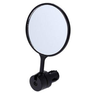 2 pcs lot Universal Rotate Cycling Bike Handlebar Rear View Glass Black Flexible Adjustable Safe Rearview Mirror Drop Shipping