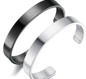 n966 Fashion gifts Brandnew Women men jewelry stainless steel Half Open Bangle bracelet cuff 10mm 64mm inner
