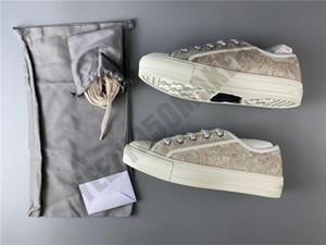 """المصممين 2020 20SS باريس WALK'N """"التطريز أحذية رياضية فاخرة وردي 3D CANVAS الرياضة تنفس أحذية المرأة عارضة دوستباج"""