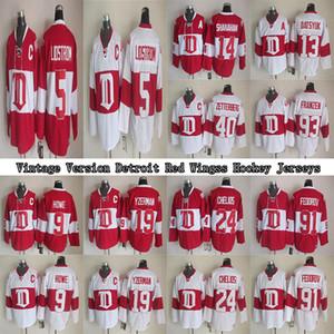 Detroit Red Wings Vintage Jersey 5 Lidstrom 19 Fedorov 9 Gordie Howe 13 Pavel Datsyuk 40 ZETTERBERG CCM Hockey Jerseys