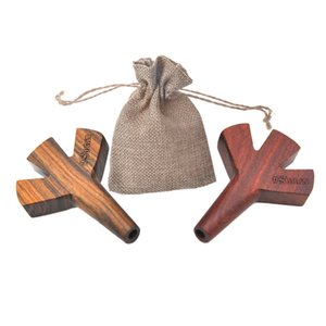 * Stoner Trident Wooden Joint Holder Double Twin Triple Five Barrel Cigarette Holder Pipe Rolling Papers 2 3 5 Cones