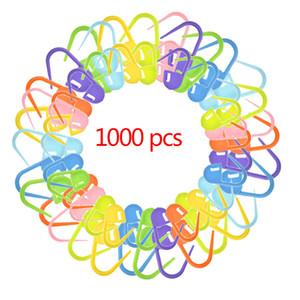 1000 pcs misturar cores titulares marcadores de pontos Crochet Knitting Ponto agulhas de tricô Titular de costura Acessórios Tamanho 22 milímetros