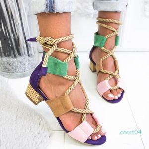 Laamei 2019 New Espadrilles Women Sandals Heel Pointed Fish Mouth Fashion Sandals Hemp Rope Lace Up Platform Sandal c13