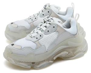 2020 nuevos pares 17FW Triple-S Green cristalina blanca de Triple S Deportes Outoor las zapatillas de deporte para hombre de las mujeres Old Dad Casual inferior zapatos de lujo zapatos