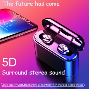 Bluetooth Headphones wireless earbuds Tws X8S wireless Bluetooth earphones 5.0 with charging bin binaural in ear headphones 2PCS delivery