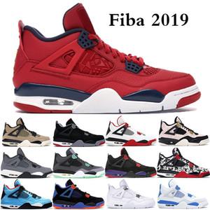 Jumpman funghi Bred 4 4s IV Cactus Jack Cool Grey Mens scarpe da basket FIBA UNC Silt Red Splatter Sport stilista formatori scarpe da tennis