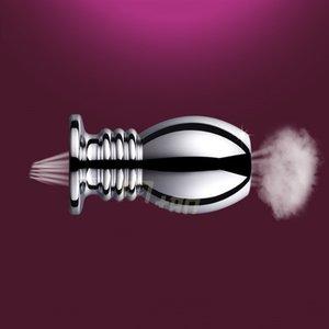 Хорошо Healthy Metal Anal Plug Round Bottom Hollow Пол Стимуляция Игрушки для взрослых Мужской Женский