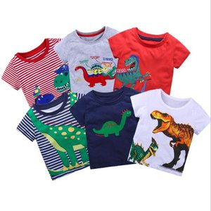 Boys Top T Shirts Dinosaur Printed Shirt Baby Tees Summer Clothes Cartoon Kids Tshirts For Boys Clothing Children