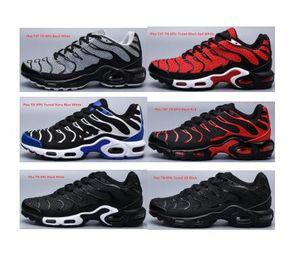 Descuento 2020 nuevo diseño zapatos tn tn original Plus Ultra Negro Blanco zapatillas de deporte barato TN Requin Mercurial Chaussures Homme de calzado deportivo Trainer