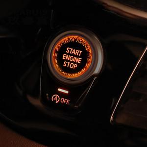 Автомобильный стайлинг кнопочный переключатель ENGINE START STOP крышка наклейка для BMW X1 X2 X3 X4 X5 X6 F25 F26 F15 F16 F48 F49 F39 Автоаксессуары