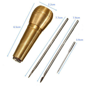1set of Sewing Bag Shoes Repair Tools Tools Needle Awl Leather Craft Kit Handtool Make Bag Fitting