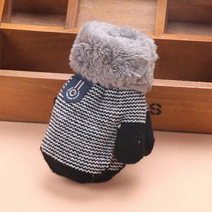 Мультфильм Cute Baby Перчатки для новорожденных варежки для детей Lanyard Рукавицы зимние теплые перчатки нашивки для мальчиков и девочек