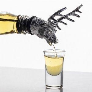 Bouteille Creative Deer Head Cork Wine Pourer Stopper Cerf Stag Vin Verseur Aérateur Barware Décor Bar Outils