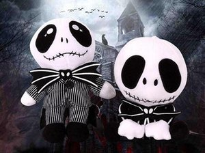 Nightmare Christmas Jack Plush Toy 20-25cm Cute Skull Standing Sit Jake Stuffed Soft Dolls Skellington Plush Doll