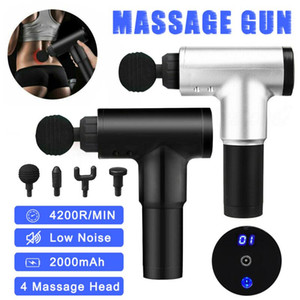 4200R / min Massage Therapy Gun 6 Speed Muscle Massager douleur Sport Massage machine Relax Amincissant Relief 4 Têtes