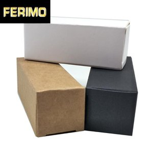 50Pcs / lot White Black Brown Paper Package Box Kraft Paper Party DIY Crafts Packing Box Small Perfume Bottle Carton Pack