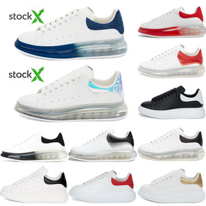 2020 Shoes Moda mulheres sapatos de couro de Men Lace Up Platform Oversized Sole Sneakers Branco Preto Casual Sapatos Com Box Tamanho 36-45