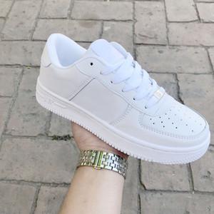Горячее Надувательство 2019 Новые Силы Мужчины Женщины Low Cut One 1 Обувь Белый Черные Туфли Классические Туфли