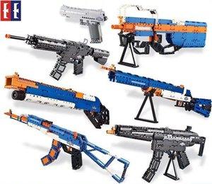 SY Kid Blocos Modelo armas, AK, M4 Assault Rifle, DIY Developmental Brinquedos, Segurança Inofensiva, para o aniversário de Natal Kid Party' Gif