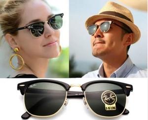 Banda polarizzato protezione UV400 Occhiali da sole ClubMaster3016Ray Pilot Vintage Marca vieta gli occhiali da sole Wayfarer uomo Donne Ben con la cassa della scatola