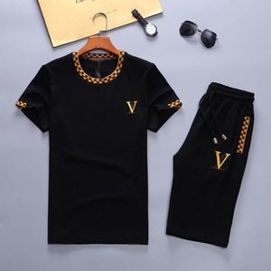 19 Summer Alphabet Shorts Set 2 Piece Set Short Sleeve T-shirt + Shorts Sportswear Set Medusa Sportswear