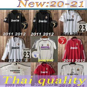 Real Madrid 2003 04 # 23 BECKHAM # 5 ZIDANE FIGO para hombre de Fútbol 2011 12 13 14 # 7 RONALDO Home Away Camisetas de fútbol Uniformes