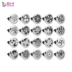 316L stainelss steel Car Aromatherapy Locket Magnetic Essntial oil Diffuser Locket AE101-120