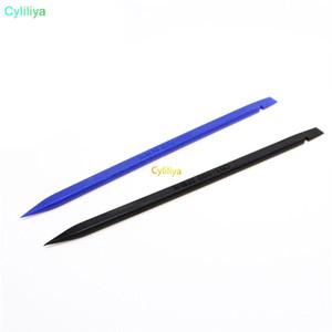 Negro / Azul 15CM Herramienta de palanca de cable plano de plástico antiestático Spudger Bar Crowbar Repair Herramientas de palanca para iPhone Android 500pcs / lot (hl)