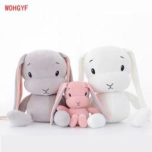 Lucky Boy domingo bonito coelho boneca coelho brinquedos de pelúcia macia para crianças pequenas brinquedos animais sobre o presente de aniversário para o novo ano