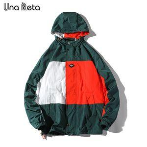 Una Reta Man Jacket Новые поступления Уличная куртка Спортивный костюм Повседневная мужская куртка Цвет сшивания Хип-хоп Lover Куртки с капюшоном